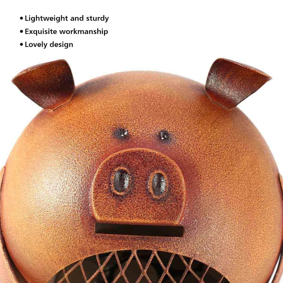 Cute Piggy Bank For Kids with Pig and Cat Figurine in Nursery & Kids Decor