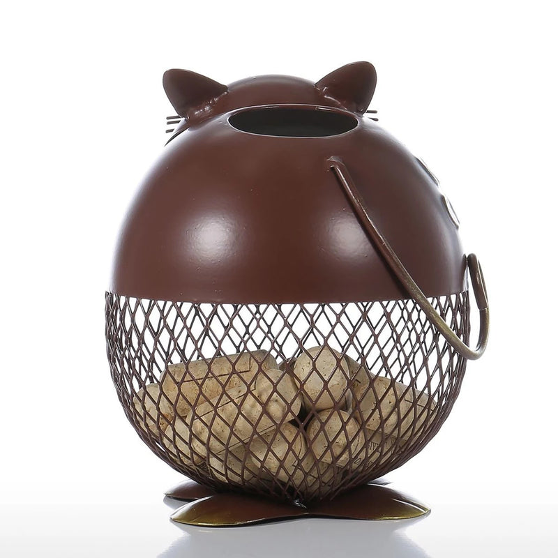 Decorative Jar with Cat for Kitchen Countertop Decor