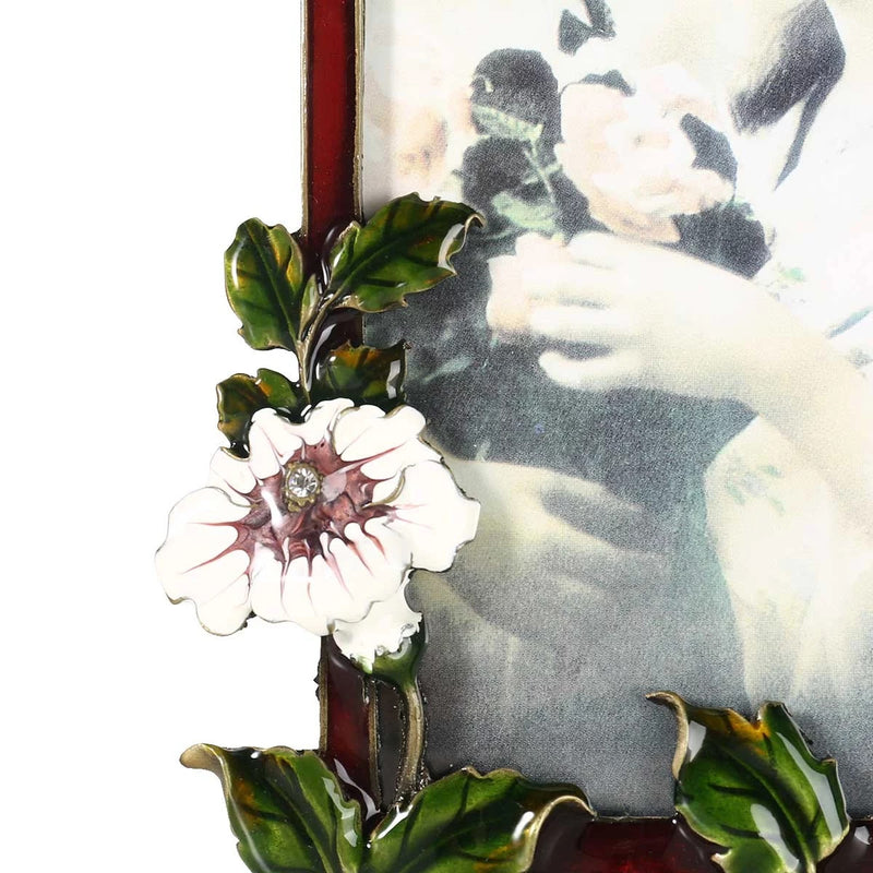 Decorative Photo Frame with Flower Brooch