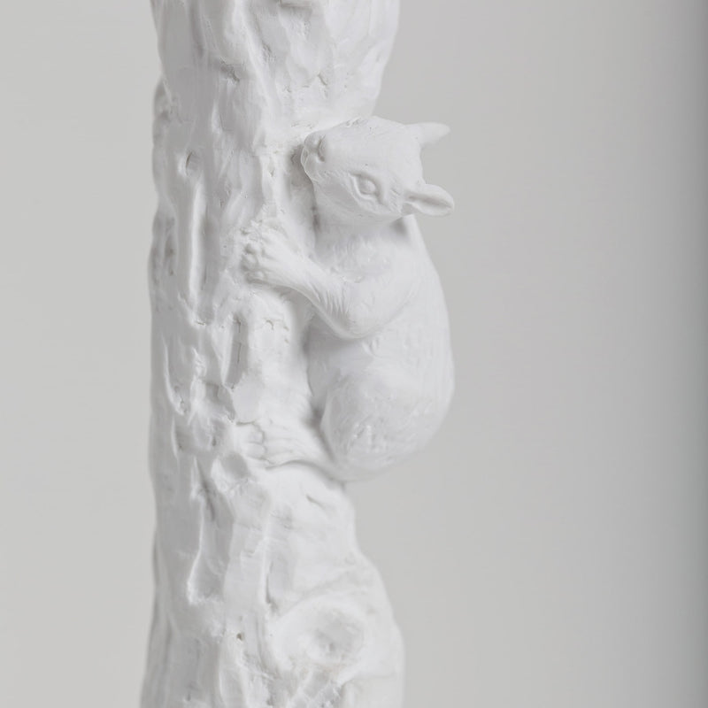 Decorative and Standing Paper Towel Holder with Squirrel Ornament