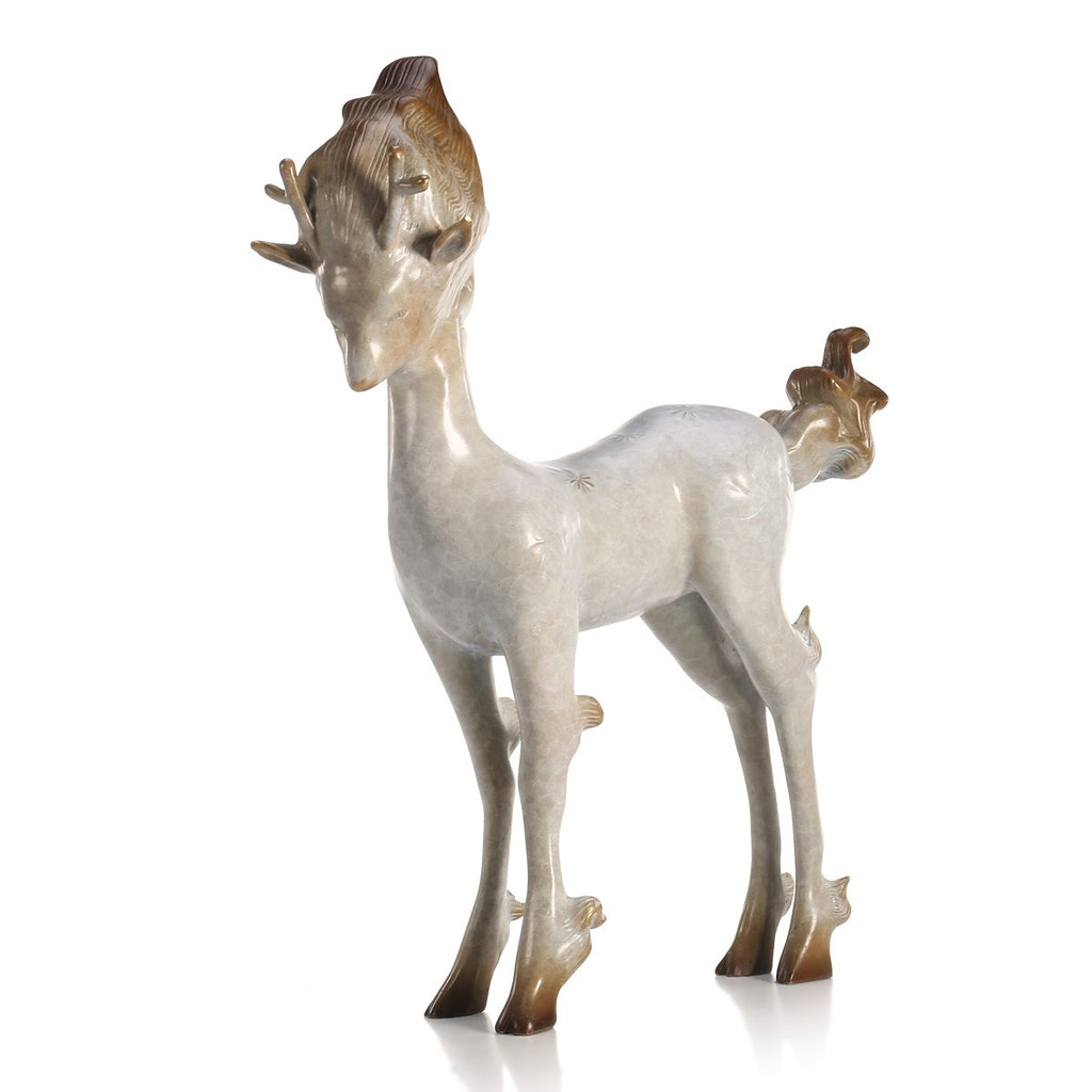 white deer decor and christmas deer statues for christmas decorations next - White Deer Christmas Decoration