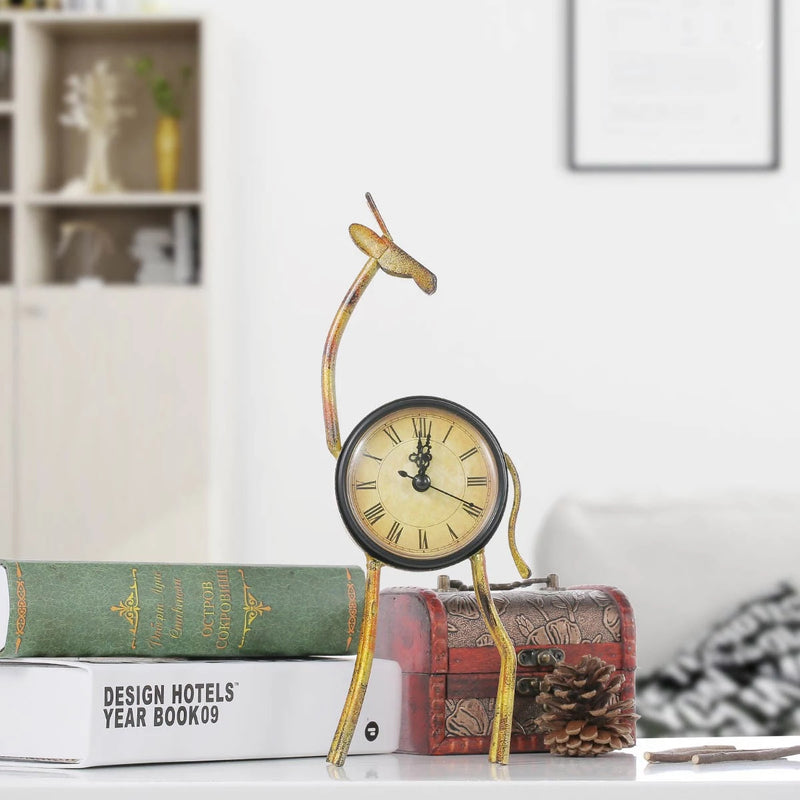 Small & Decorative Table Clock by Cat, Deer, Flamingo, Chicken, Pig