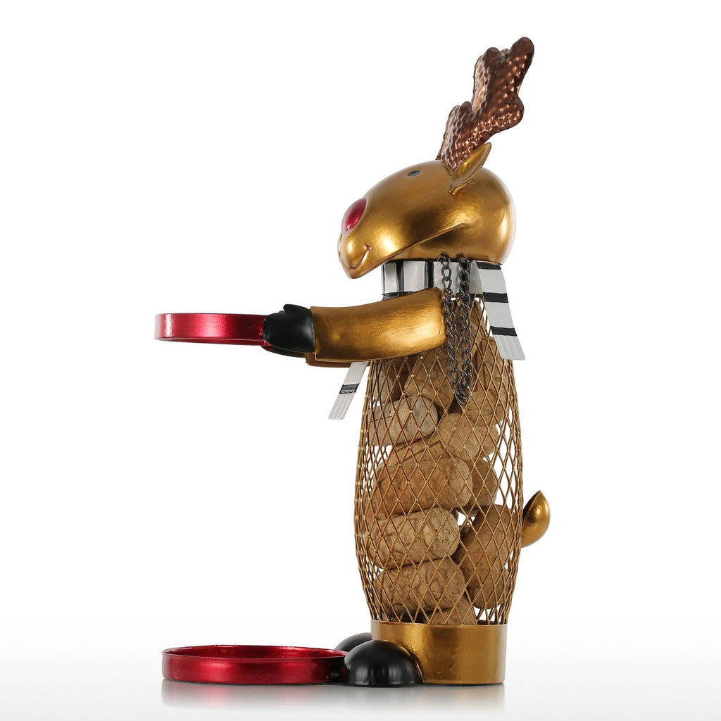 Deer Wine Decorative Object