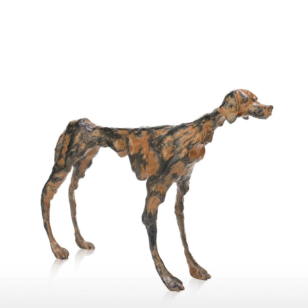 Giacometti Dog Statue: Calm Grandeur & Noble Simplicity Dog Memorial at the Home