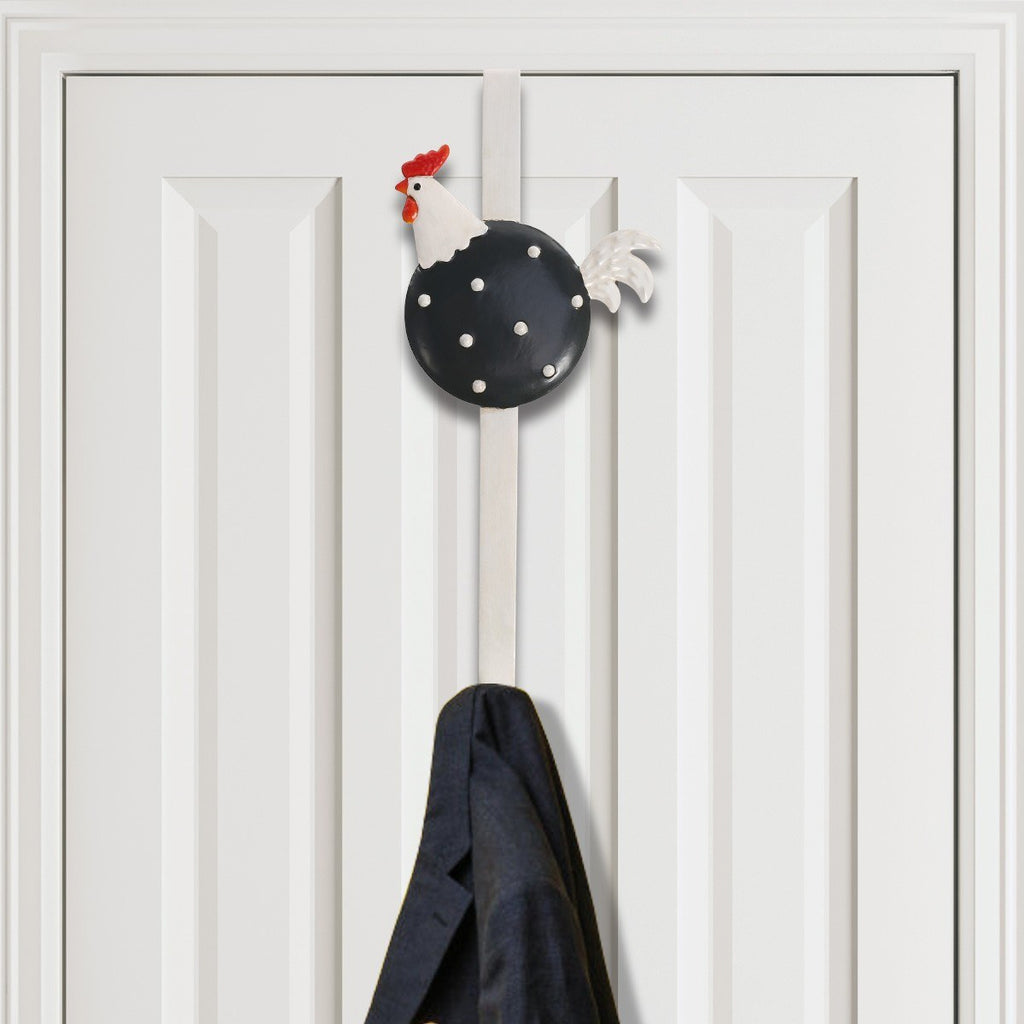 Door Hangers with Black and Colorful Chicken Animal Door Hook for Farmhouse Decor