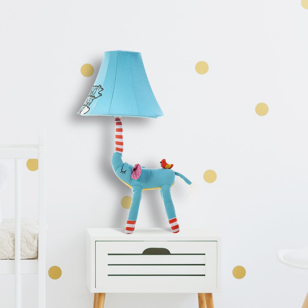 Elephant Decor and Elephant Lamp for Table and Desk Nursery Decor