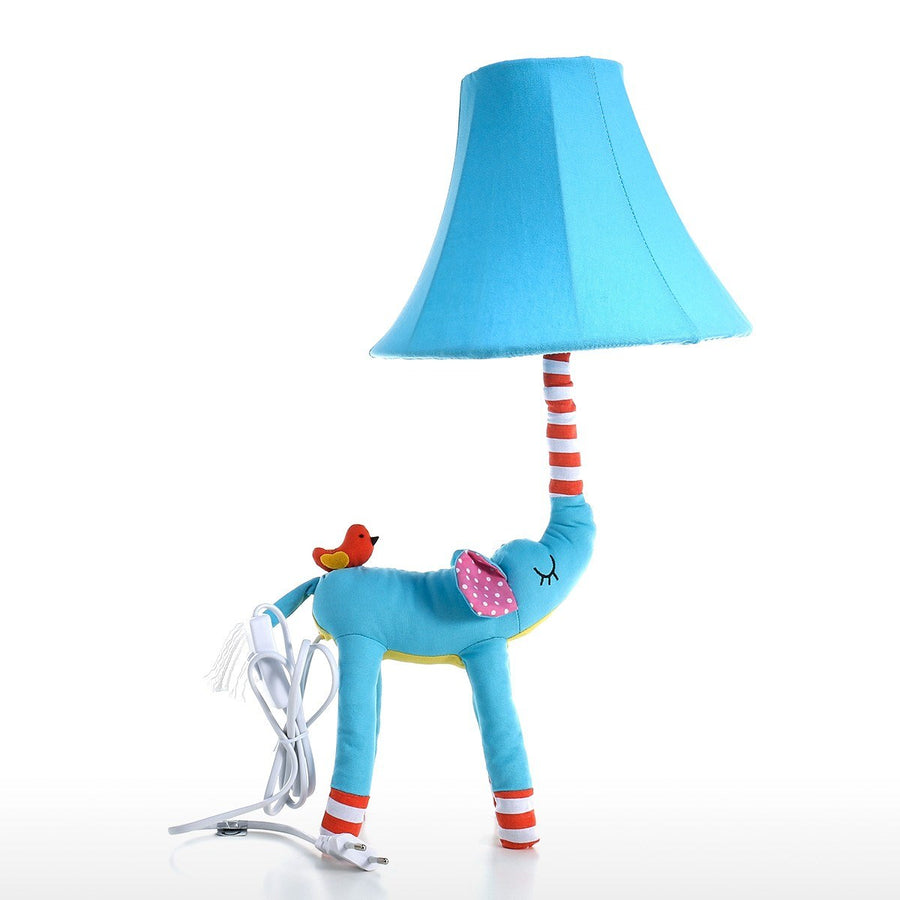 Elephant Nursery Decor and Elephant Baby Decor with Blue Table and Desk Lamp for Elephant Decor