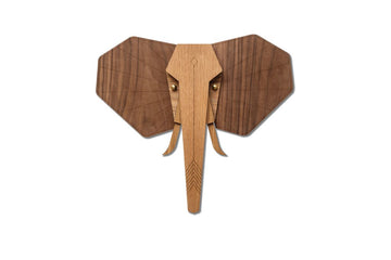 Elephant Wall Art with Wooden