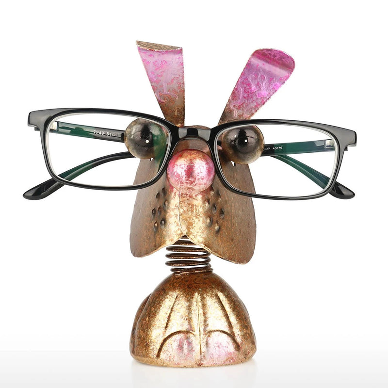 Eyeglass Rack with Rabbit Figurine Ornament to Desktop Accessories and Desktop Organizer