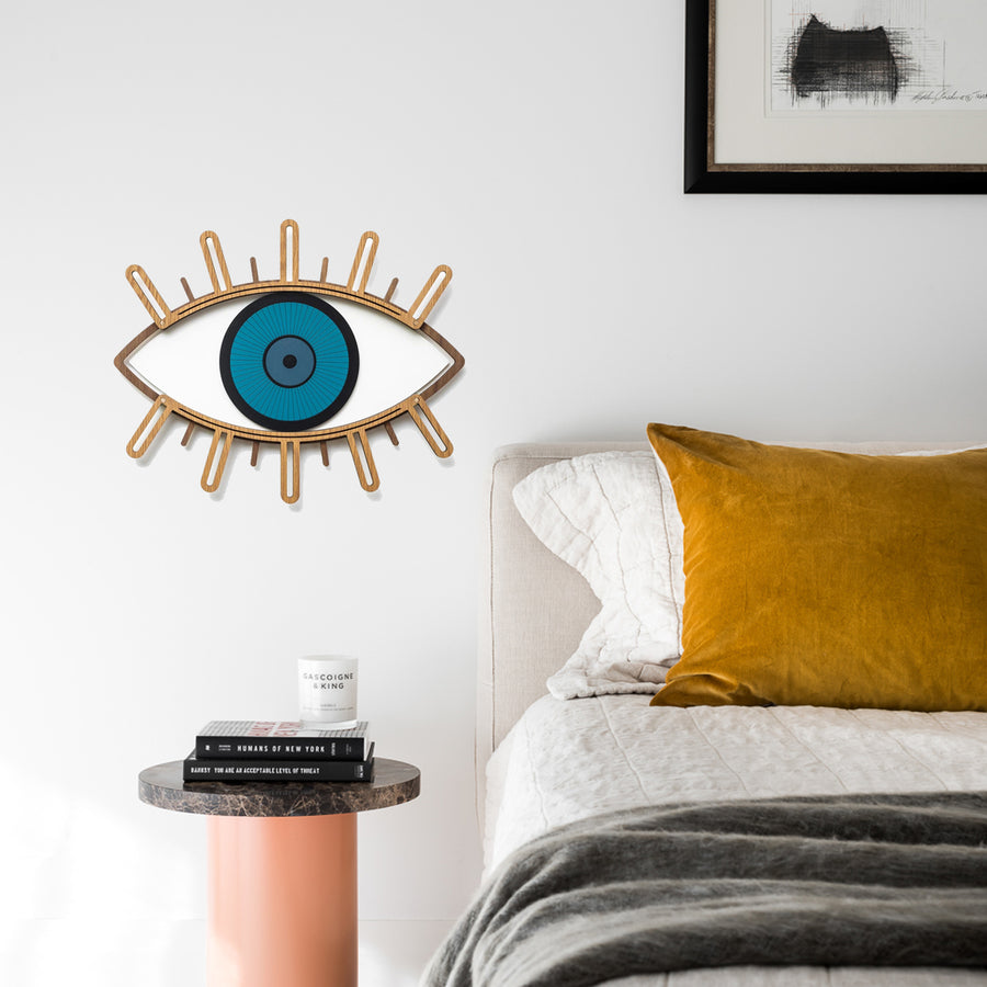 Eyelash and Eye Wall Decor by Wood Wall Art at the Bedroom
