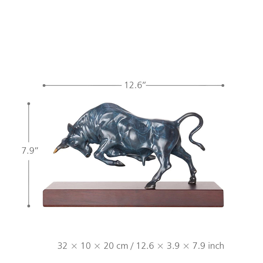 Farmhouse and Rustic Home Decor with Bull Sculpture
