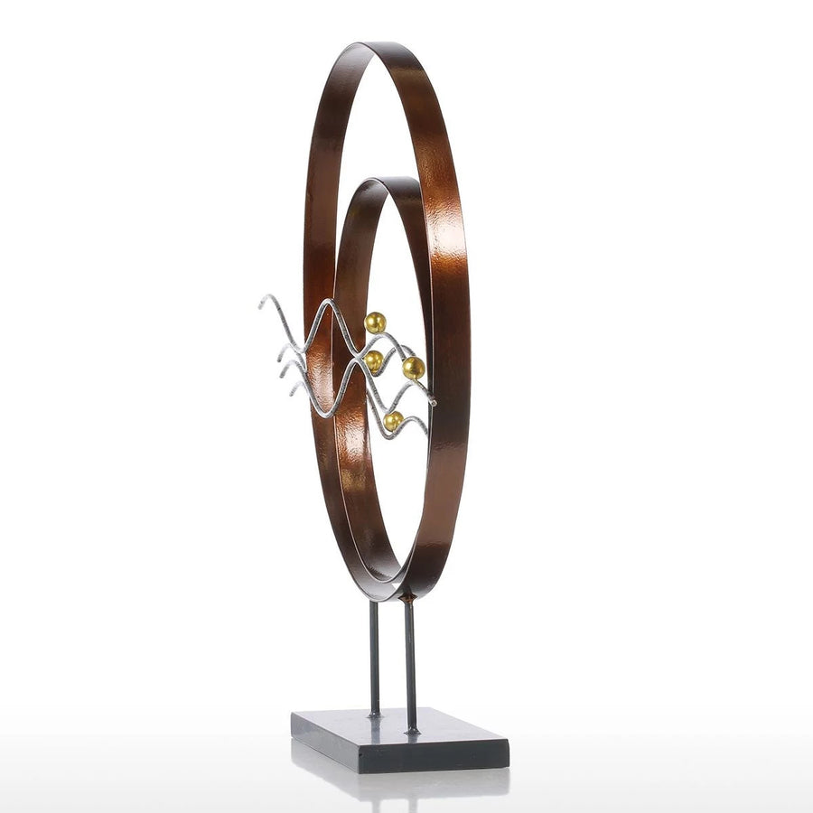 Figurative Metal Sculpture Console and Dresser Decor