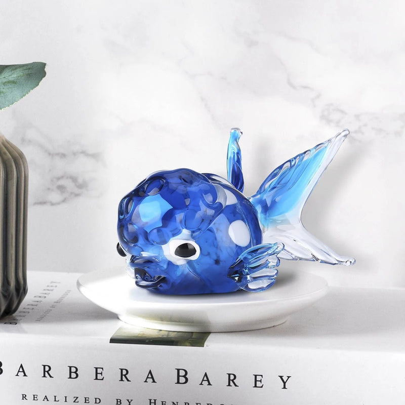 Fish Home and Aquariaum Decor with Blown Glass Fish Sculpture