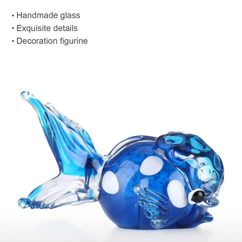 Fish Tank Decorations with Lionfish Glass Sculpture