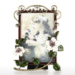 Flower Brooch Decorative Picture Frame for Tabletop