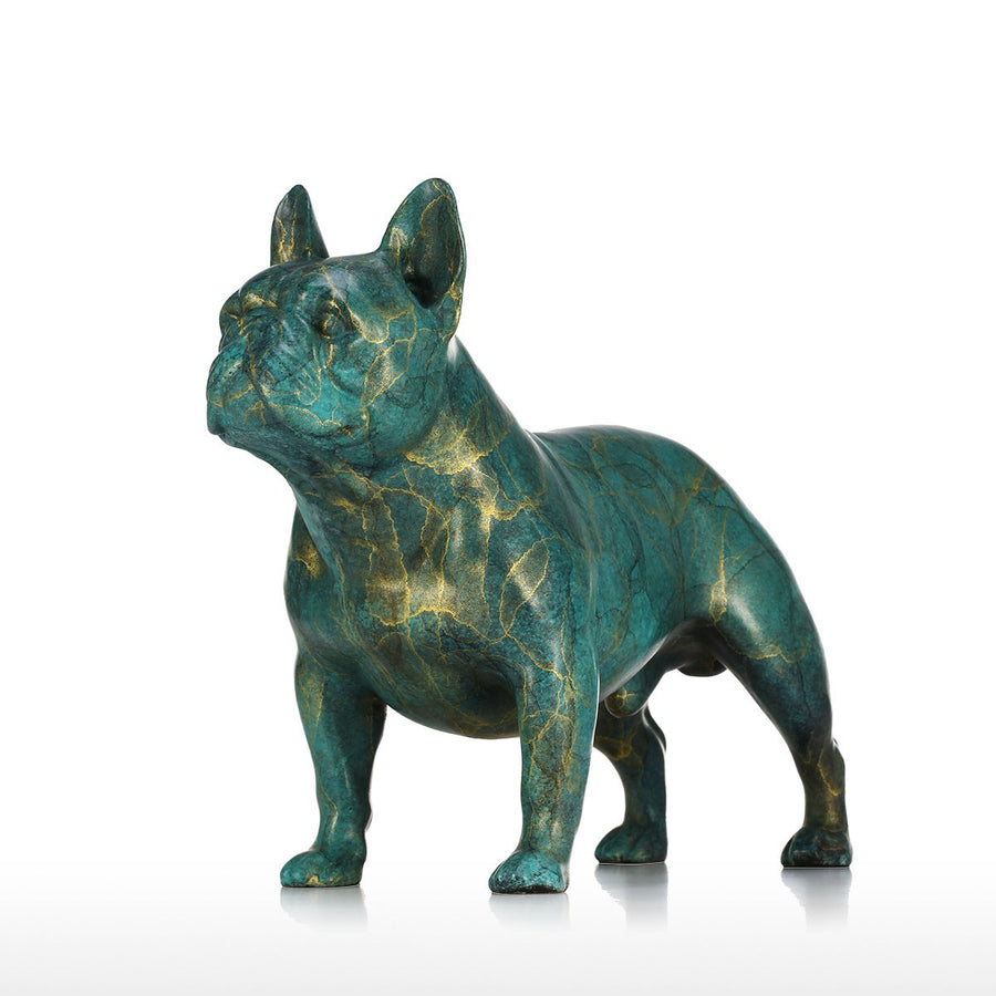 French Bulldog Christmas and Luxury Christmas Decorations with French Bulldog Statue for Christmas Decorations