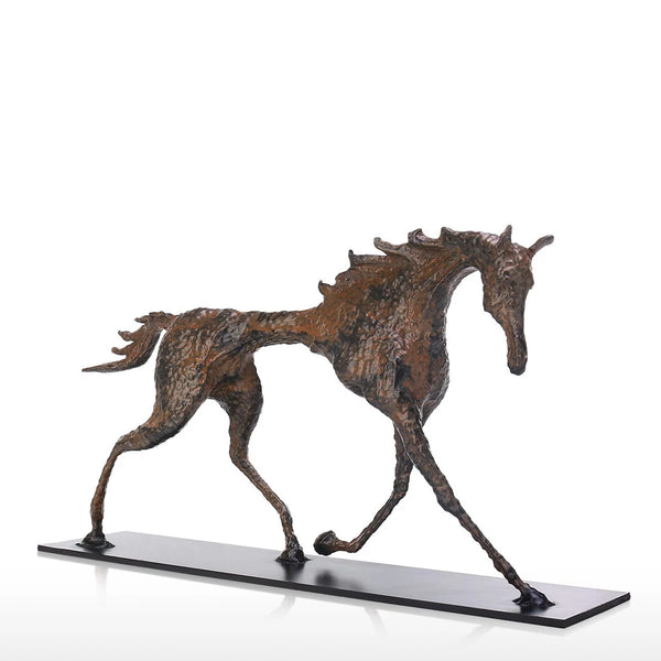 Giacometti Sculpture by Horse