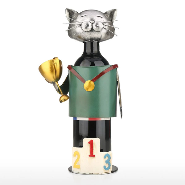 Gifts For Cat Lovers as Ornaments Countertop Wine Rack