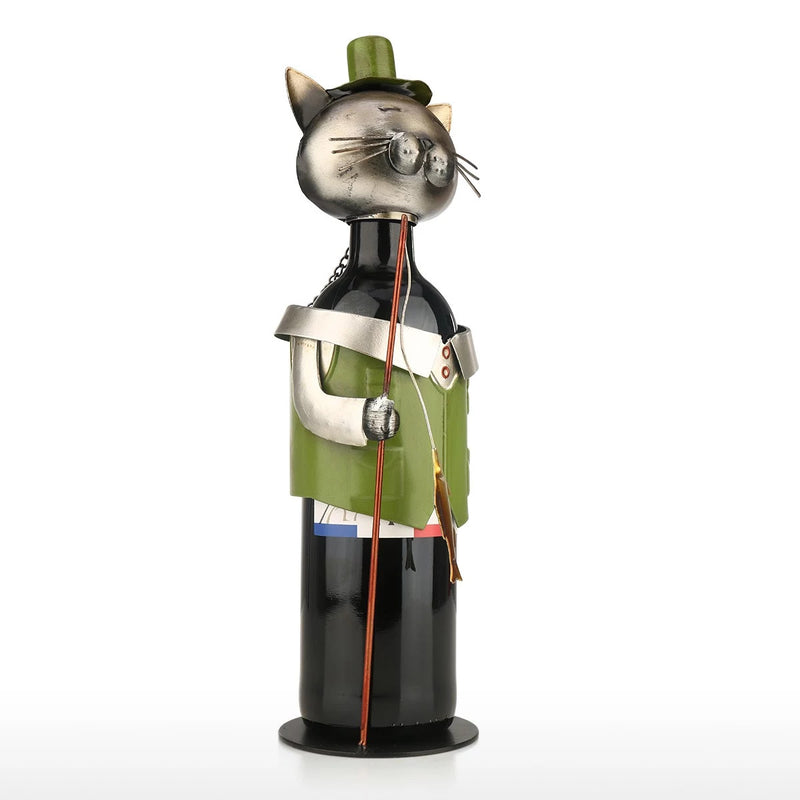 Gifts For Cat Lovers with Single Wine Rack