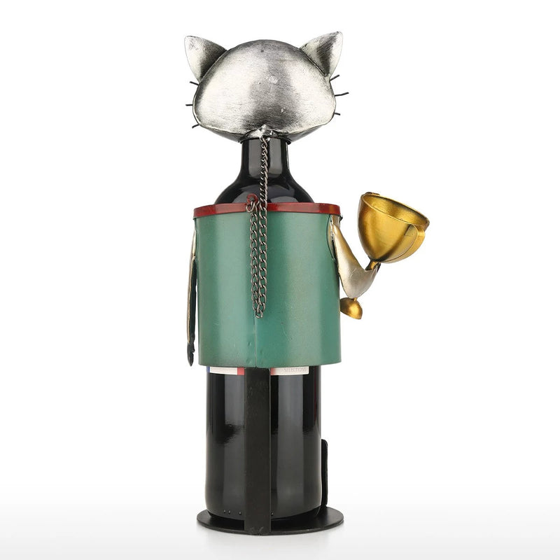 Gifts For Cat and Wine Lovers with Small Wine Rack