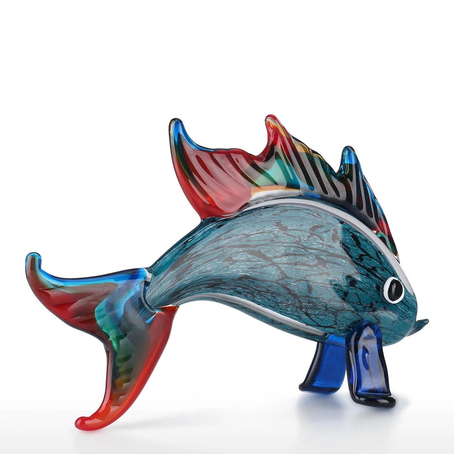 Gifts For Fishing Lovers with Glass Sculpture for Aquarium Decor