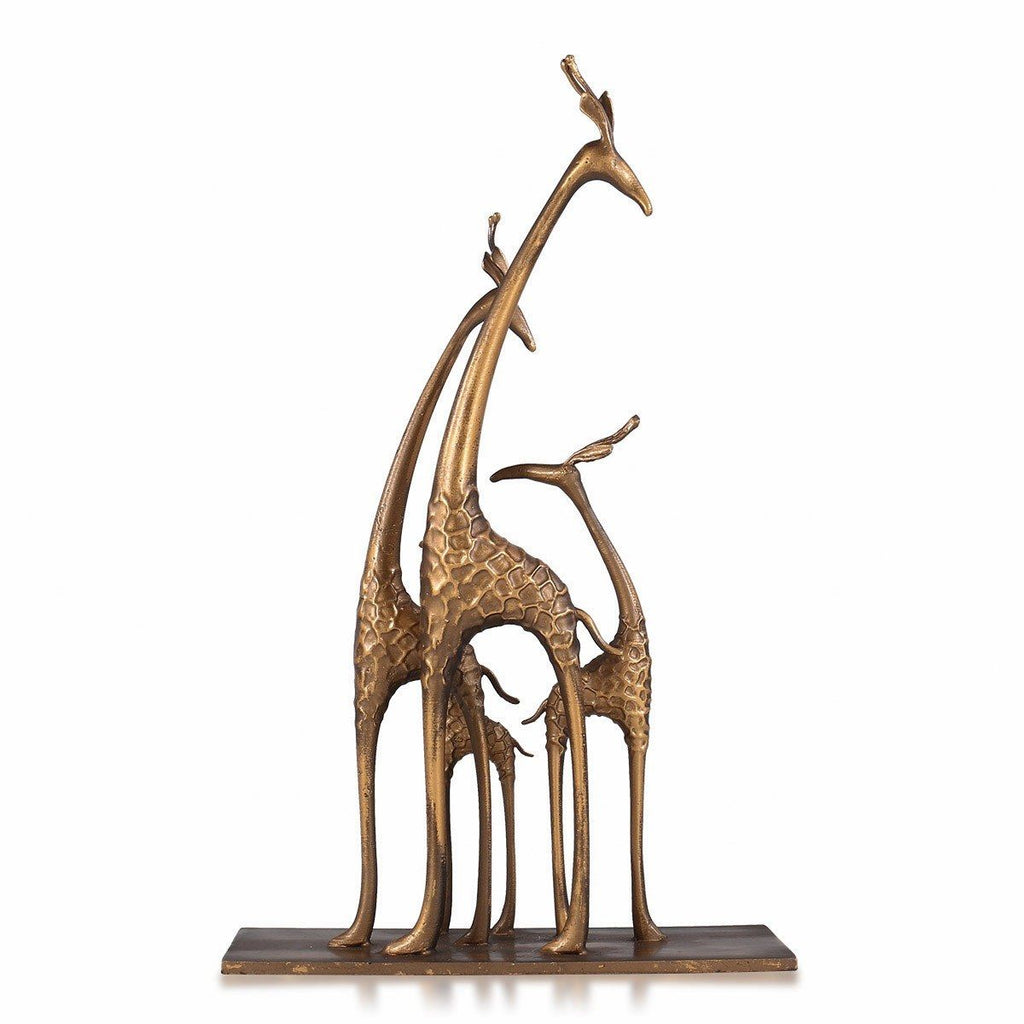 Giraffe Gifts and Giraffe Statue Home Giraffe Ornaments with Gold Bronze Collectible Figurines