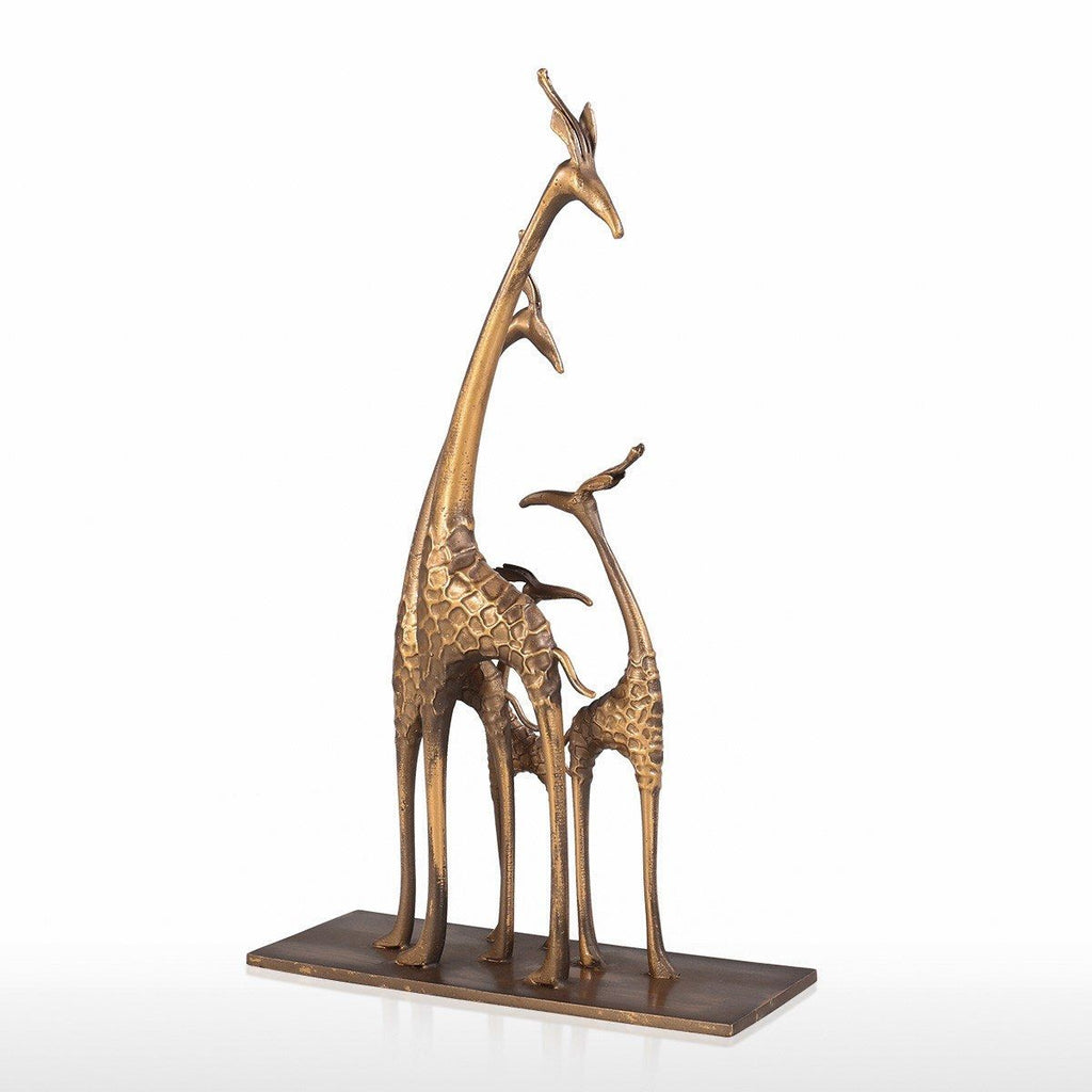 Giraffe Gifts with Gold Bronze Giraffe Statue for Home Decor and Ornaments