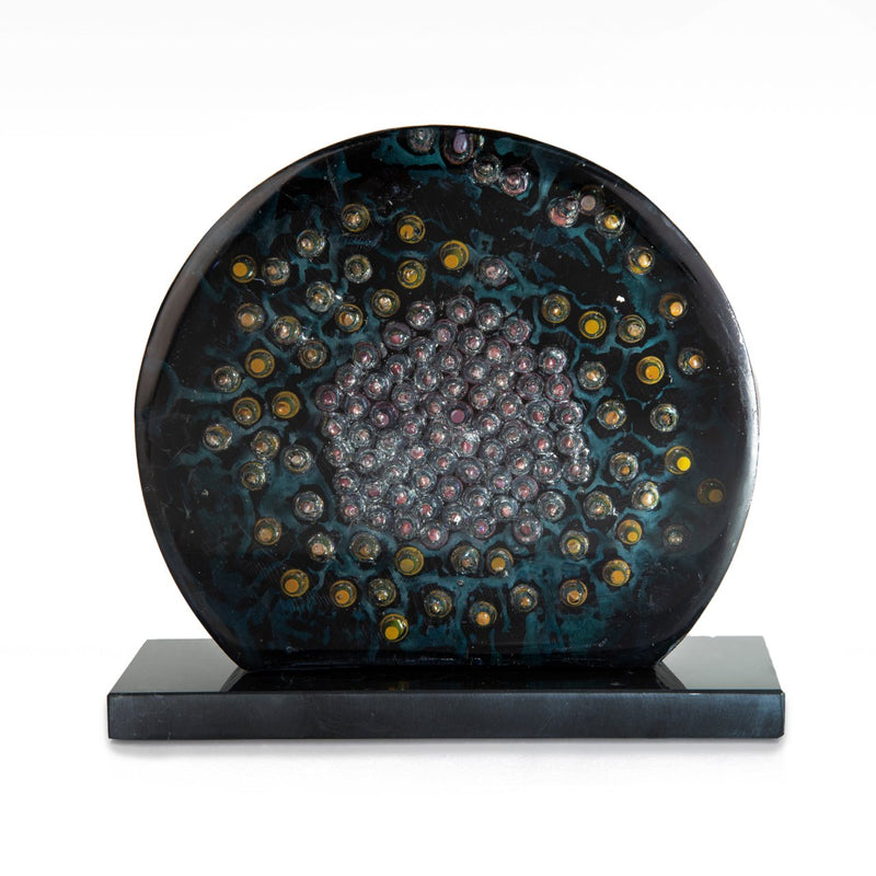 Glass Sculpture and Decorative Item - The colorful and mottled emptiness of the night