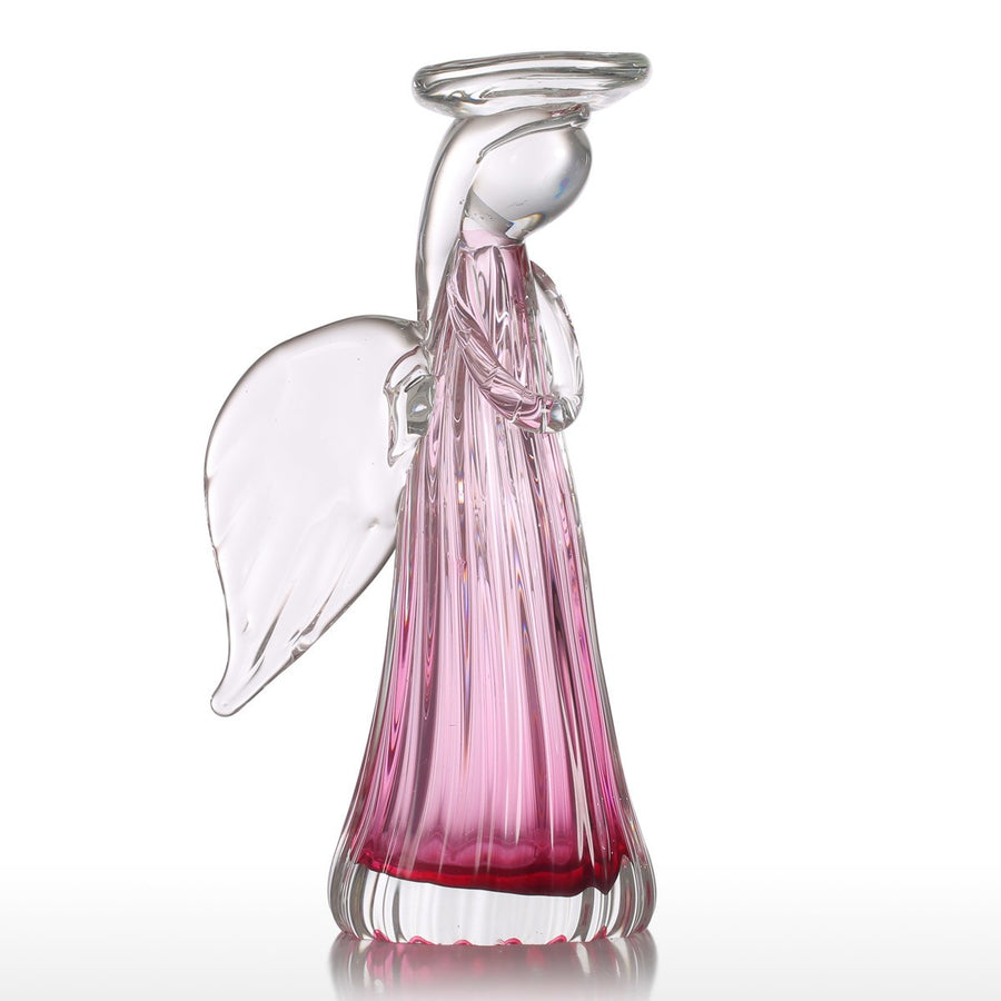 Glass Angel Figurines and Angel Ornaments for Christmas Candles and Christmas Decorations inspired Thanksgiving Gifts