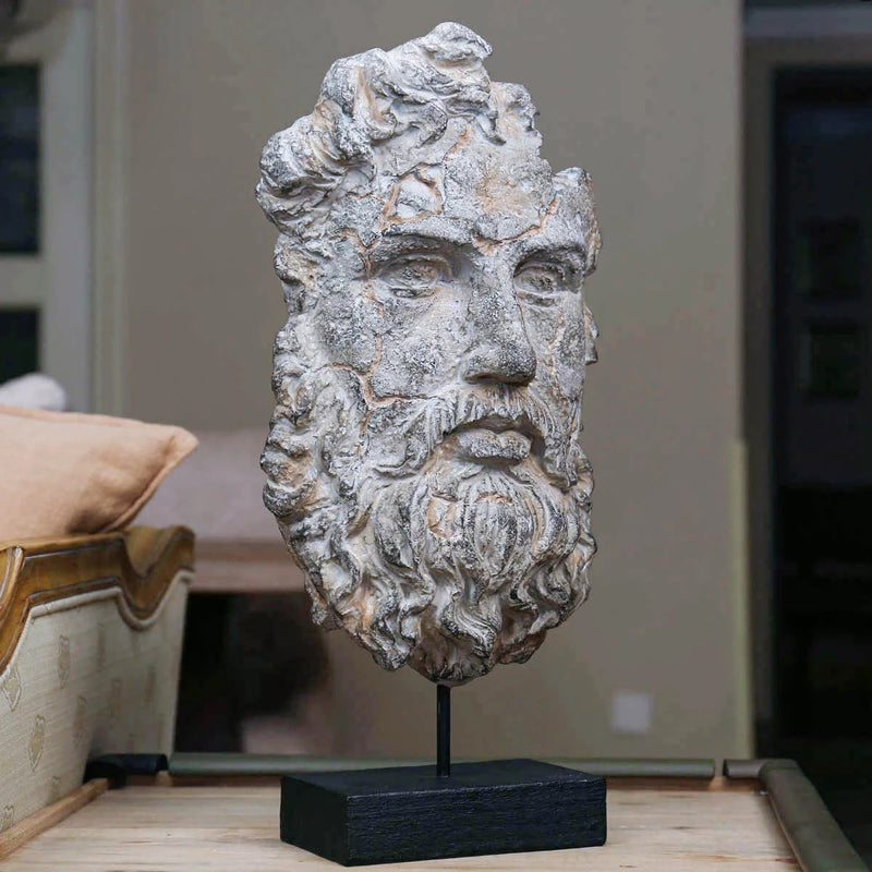Greek and Bust Head-Face Statue