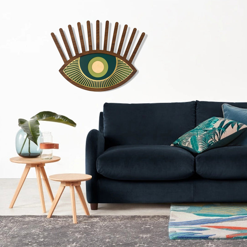 Green Eye Artwork by Wood Wall Art