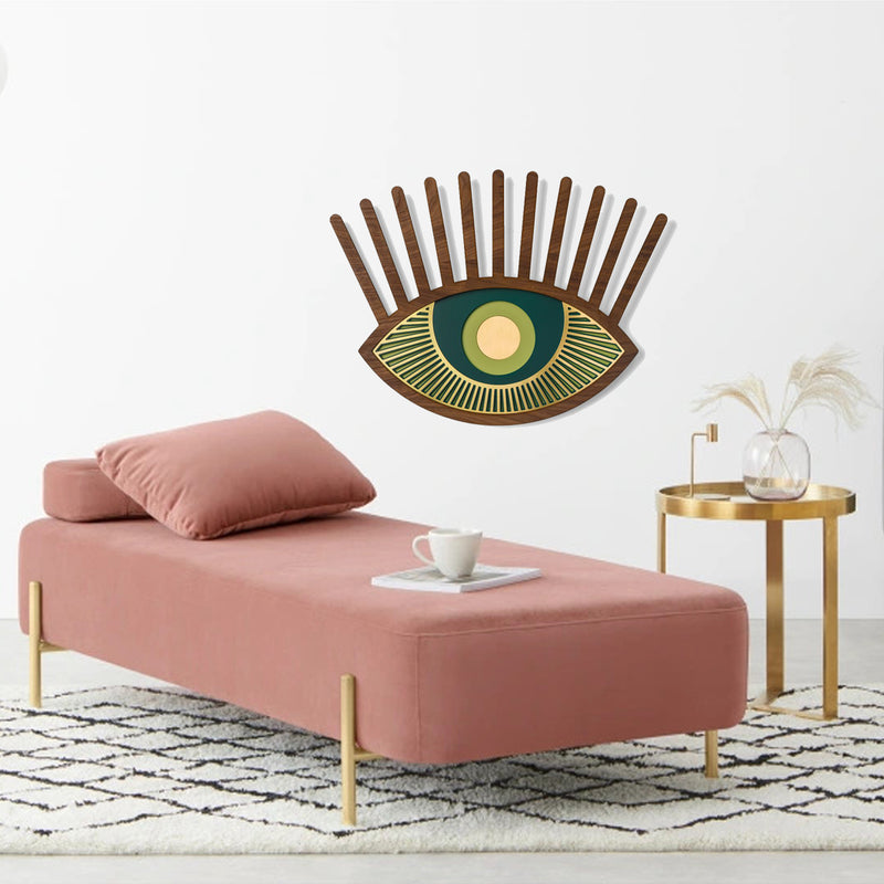 Green Eye and Eyelash Wall Art