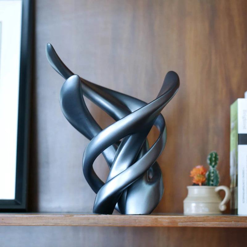 Grey Accent Decor by Modern and Abstract Sculpture by Resin
