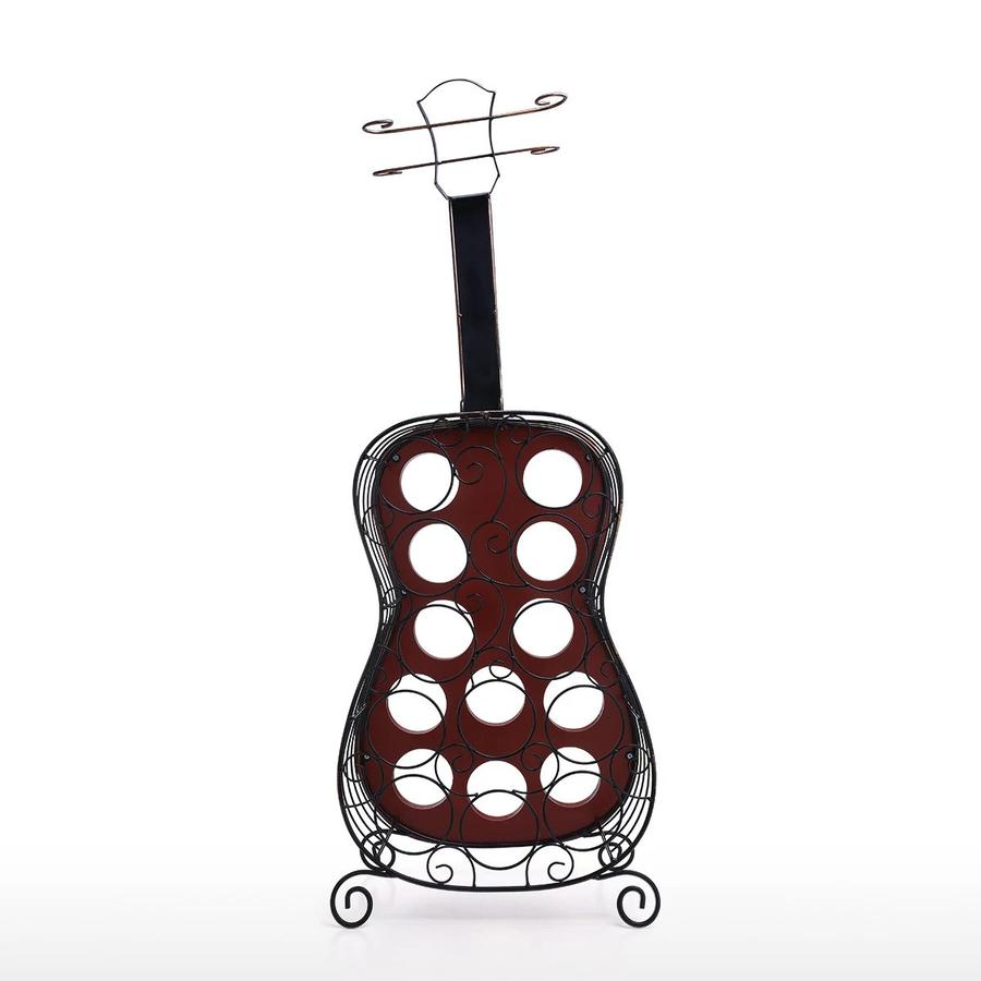Guitar Wine Rack 12 Bottle Wine Rack Storage Decor Ornaments