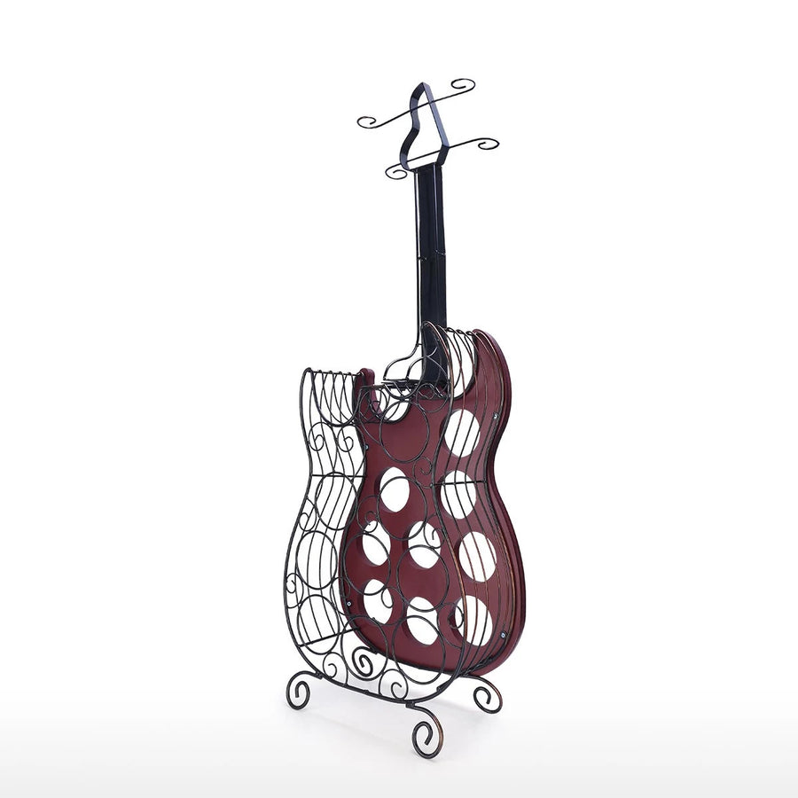 Guitar Wine Rack 9 Bottle Wine Rack Storage Decor Ornaments