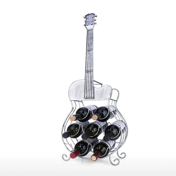 Guitar Wine Rack to 7 Bottle Wine Decorative Holder or Gifts For Wine Lovers and Music Lovers