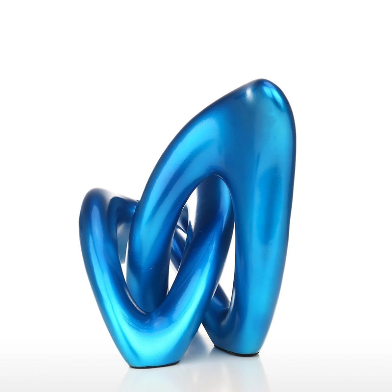 Journey to the Blue Beginning to Abstract Sculpture for Home Accessories in the Bedroom or Living Room Decor
