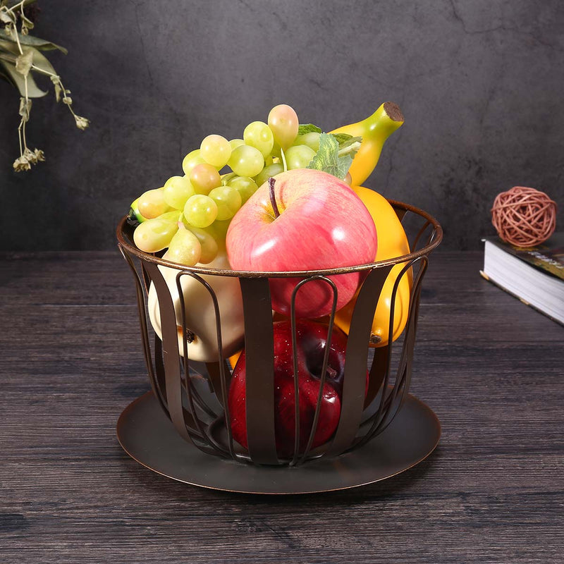 Kitchen Storage or Kitchen Storage Containers with Metal Baskets for Fruit and Coffe Pod Holder