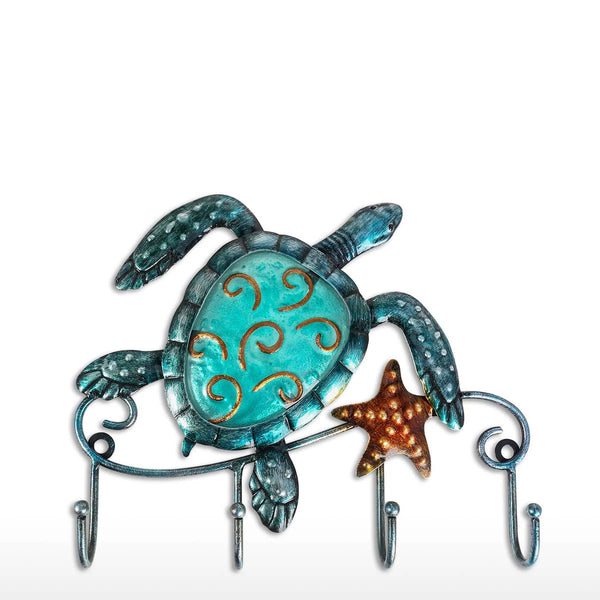 Kitchen Wall Hook with Metal Turtle Wall Art Ornament