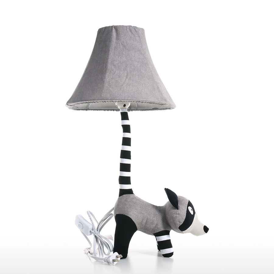 Lamp Shades for Table Lamp and Table Lamp Shades with Black and White Raccoon Nursery Decor