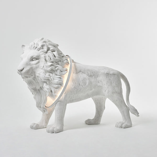 Lion Lamp with Home Decor Statue