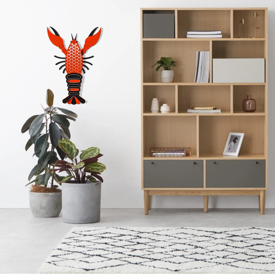 Lobster Wall Art with Wooden