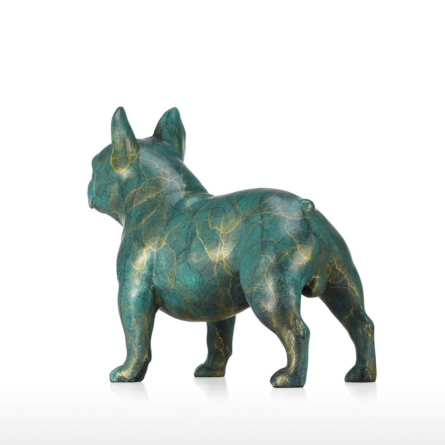 Luxury Christmas Decorations Online and Dog Christmas with French Bulldog Statue for Christmas Decorations