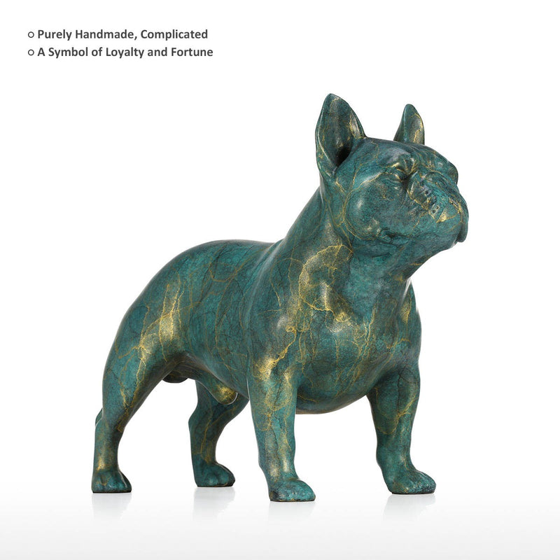 Luxury Christmas Gifts or Luxury Christmas Decorations  with French Bulldog Statue for Christmas Decorations