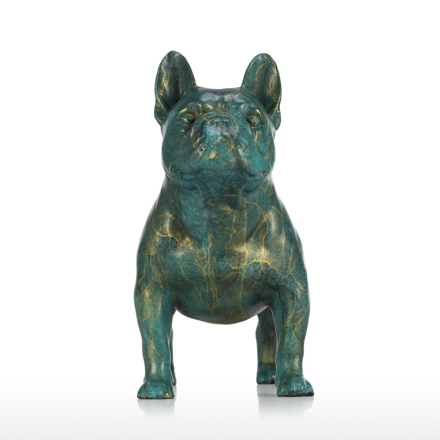 Luxury Christmas Ornaments and Luxury Christmas Decorations with French Bulldog Statue for Christmas Decorations