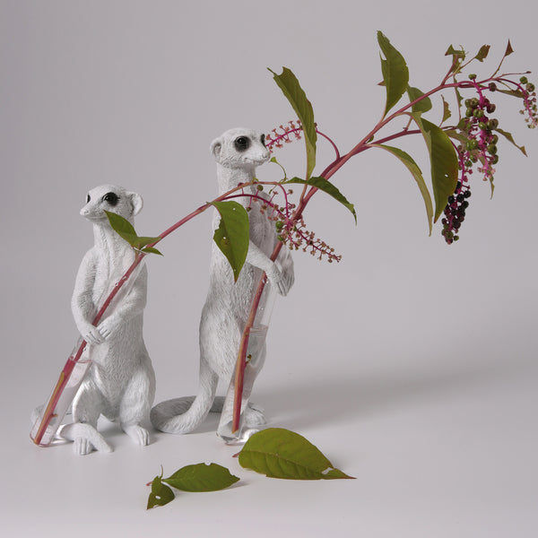 Meerkat Statue with Decorative Vase