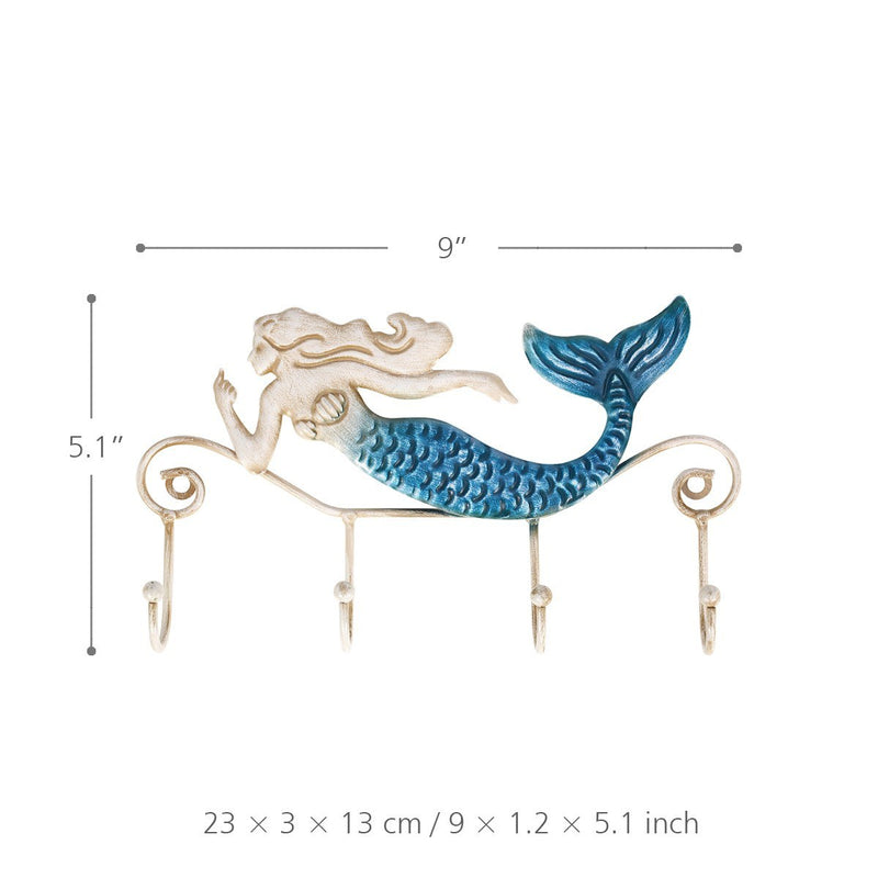 Mermaid Wall Hanging Metal Decor and Mermaid Wall Hook Decor, , Art Decoration, Interior Decoration, Sculpture, Glass Art,