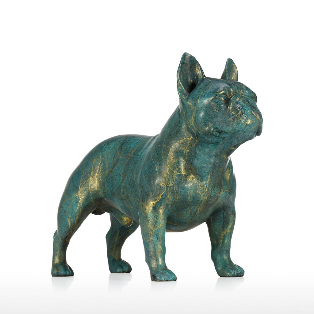Mery Christmas French Bulldog and French Bulldog Christmas with French Bulldog Statue for Christmas Decorations