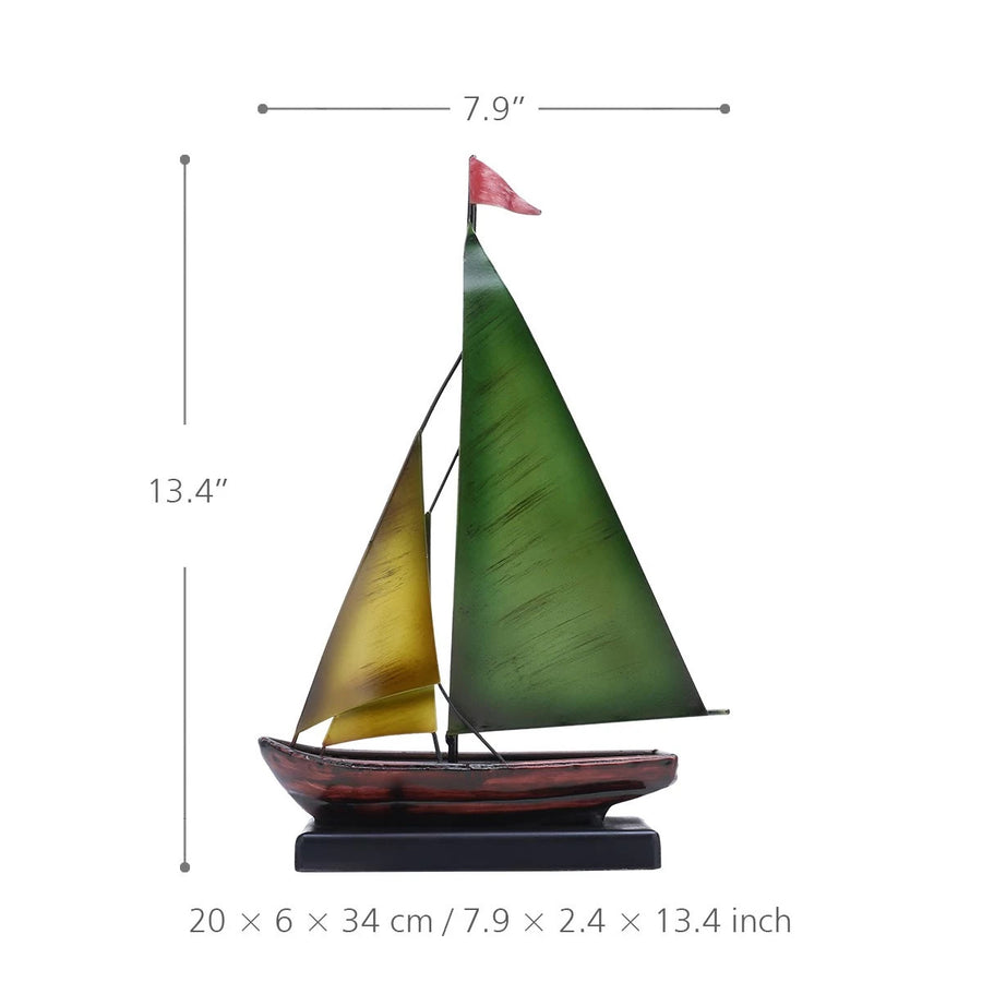 Metal Art Sailboat Ornament
