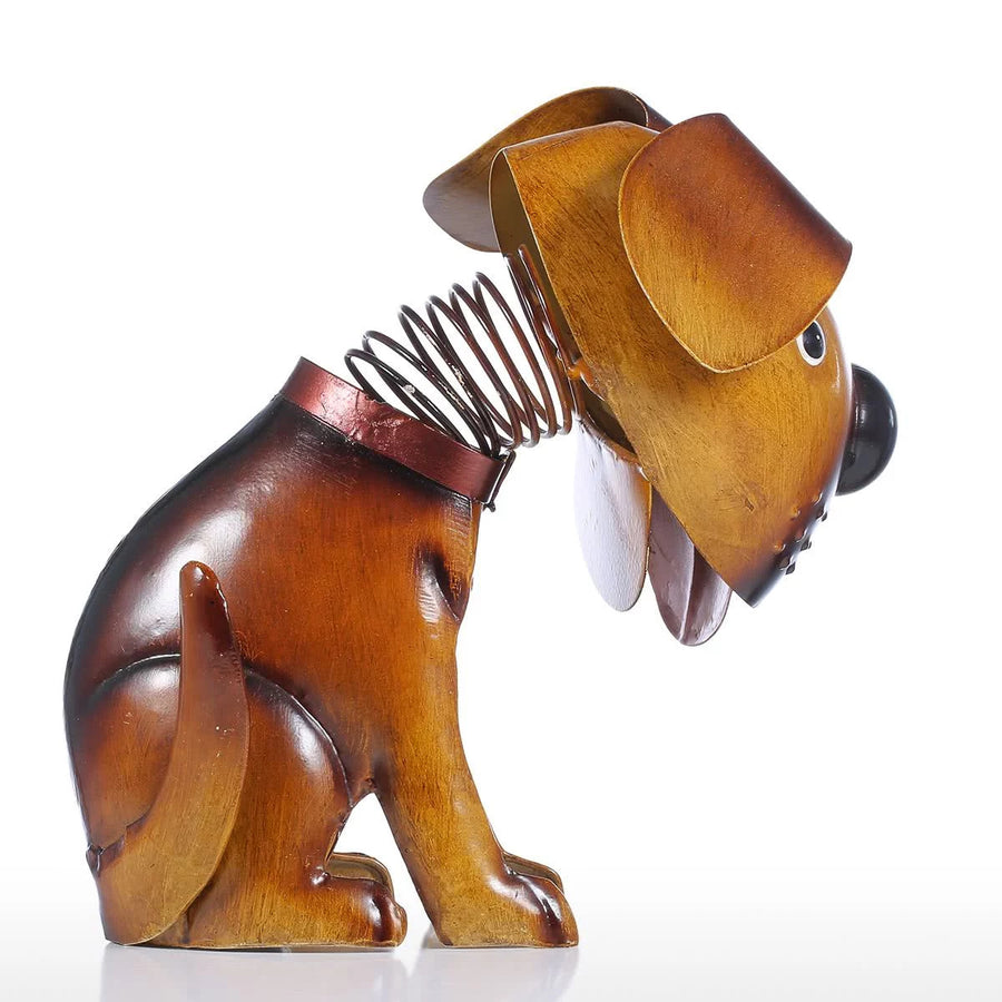 Metal Dog Sculpture to Ornaments and Room Decor Item or Gifts by Golden Retriever